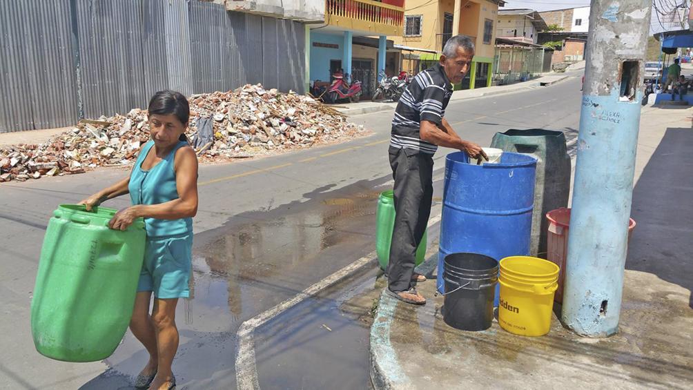 20 barrios sin agua