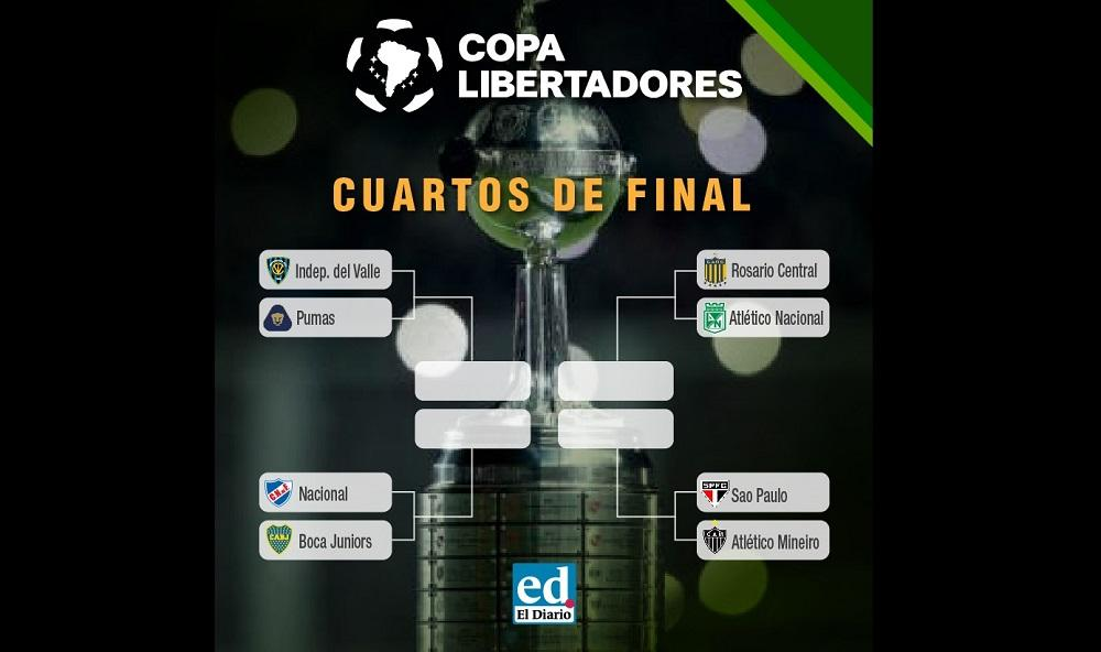 Copa Libertadores: Estos son los cotejos a disputarse por los cuartos de final