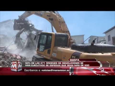 50% de las peticiones de demolición en Manta ya se han ejecutado