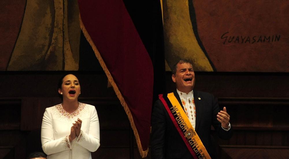 Gabriela Rivadeneira y su error durante informe a la nación
