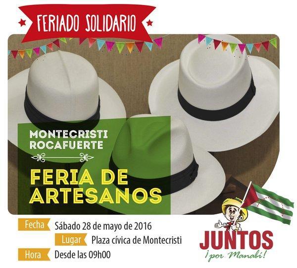 Se realizará festival turístico y feria de artesanos en Manabí en este feriado
