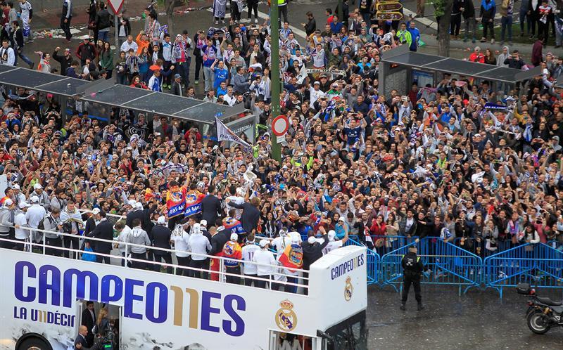 Real Madrid celebró la Copa de Europa en casa