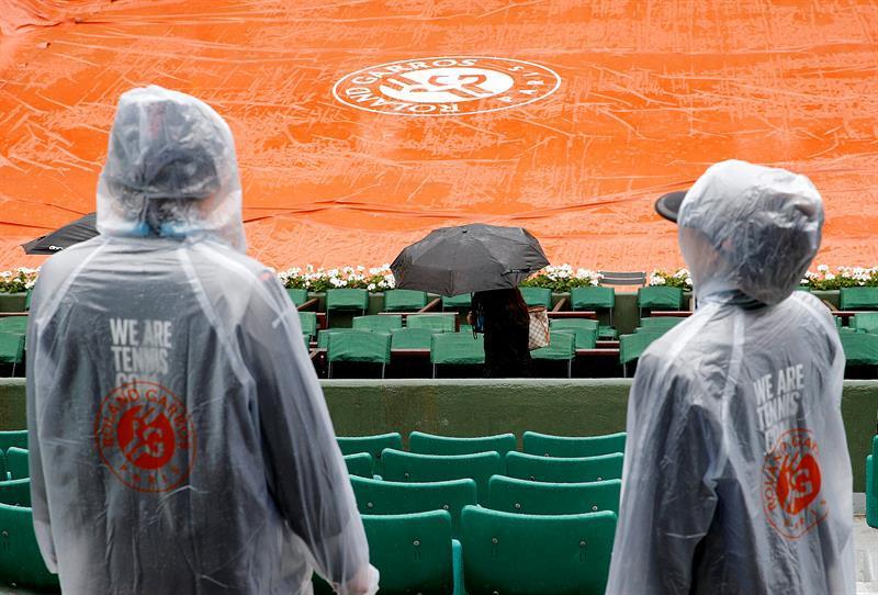 Suspenden todos los partidos de Roland Garros de hoy por la lluvia