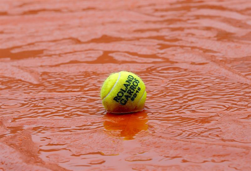 Suspenden nuevamente la jornada de Roland Garros a causa de la lluvia