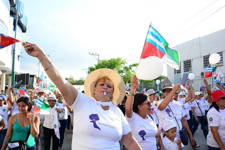 La marcha 'Con alma de acero' se tomó la calles de Portoviejo