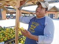 El sismo le quitó sus tres locales, ahora vende frutas