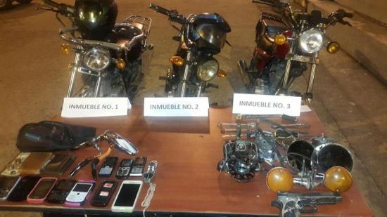 Siete personas fueron detenidas por robo de moto en El Carmen