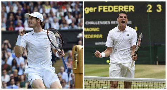 Murray y Raonic se enfrentan en una inédita final del Wimbledon