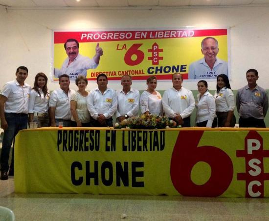 Eligen dirigencia del PSC en Chone