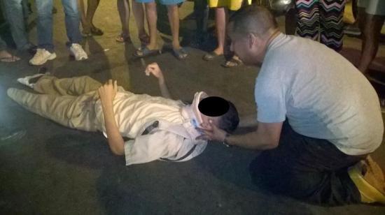 Estudiante queda herido en choque ocurrido en Portoviejo