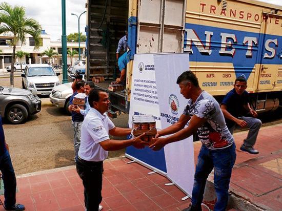 Junta de Beneficencia suma nueva donación para afectados del 16A