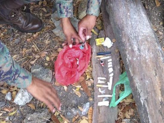 Militares decomisan droga en patrullaje