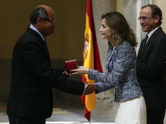 Reina premia a Ecuador por ayuda en discapacidad