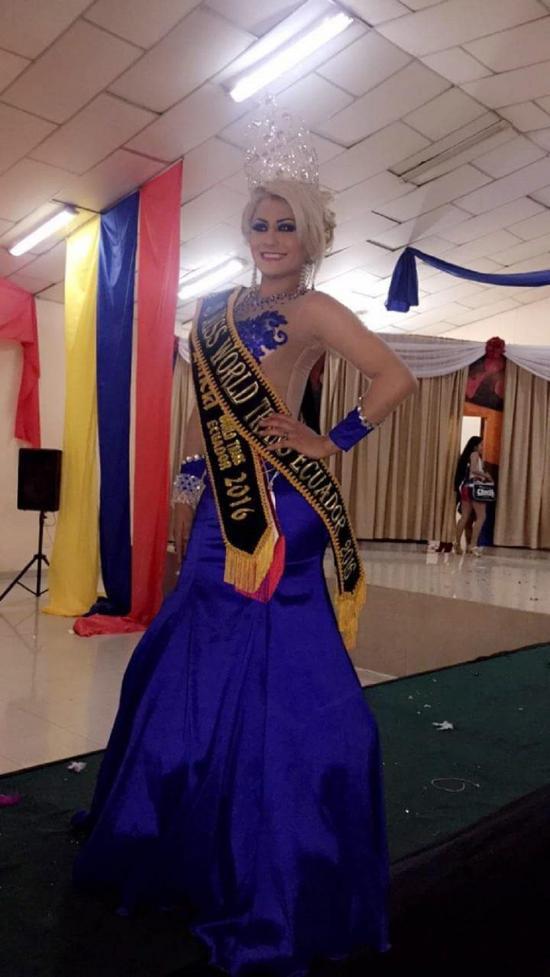 Emily, la Miss Trans Ecuador
