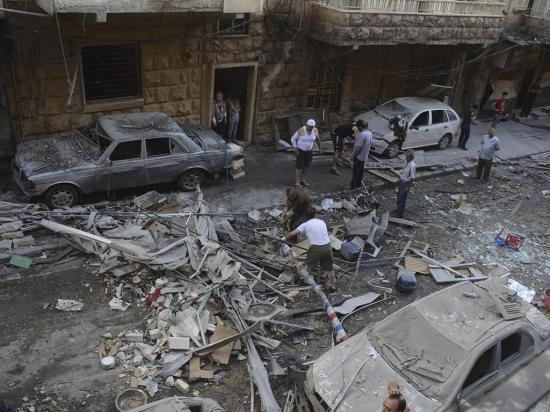 Bombardeos dejan 37  personas fallecidas