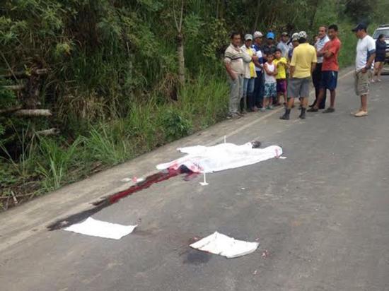 Pierde la vida tras ser atropellado en la vía a San Vicente