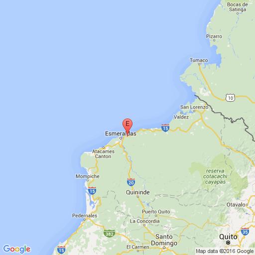 Instituto Geofísico reporta enjambre sísmico al este de la ciudad de Esmeraldas