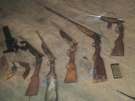 Decomisan siete armas  de fuego en un operativo