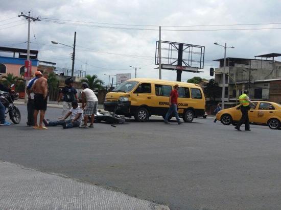 Motociclista herido en un choque