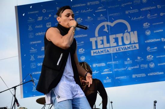 Artistas internacionales en teletón 'Manta se levanta'