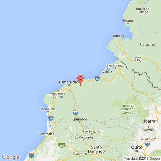 Sismo de 4.5 grados se registró esta mañana en Esmeraldas