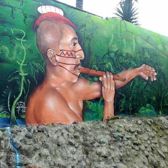El arte callejero busca espacio en las calles de Santo Domingo