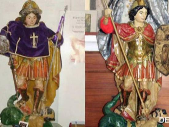"""Hombre debía restaurar una estatua del siglo XVII, pero el resultado fue """"desastroso"""""""