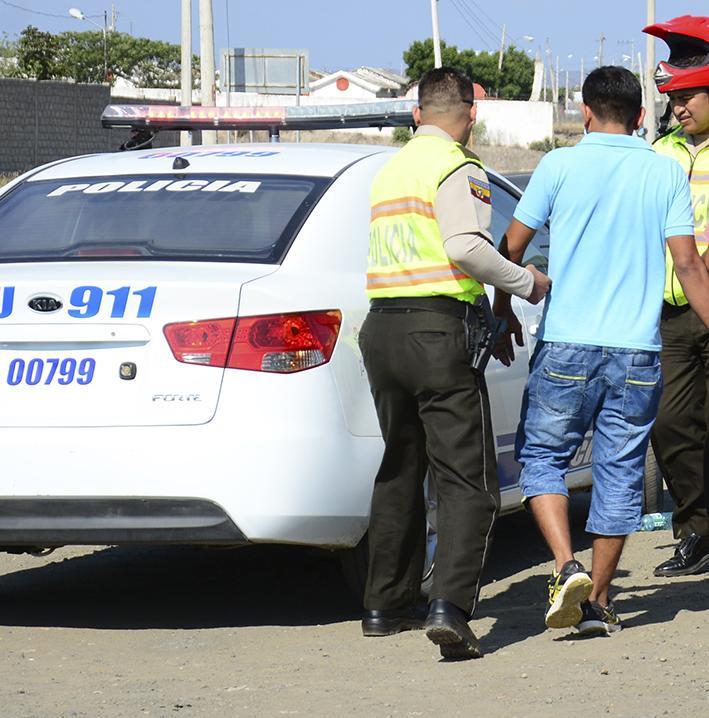 Detenidos en persecución