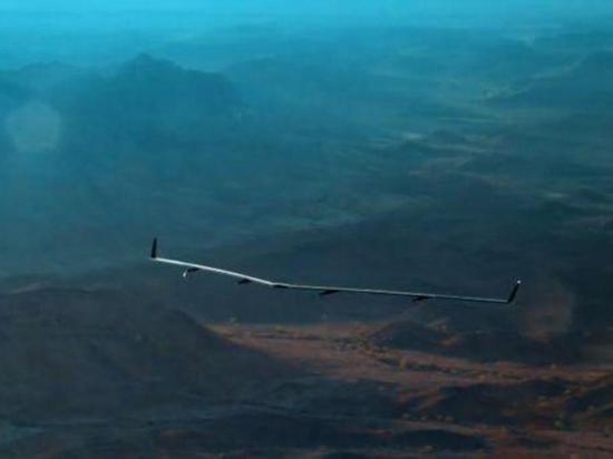 El primer  viaje del dron de facebook