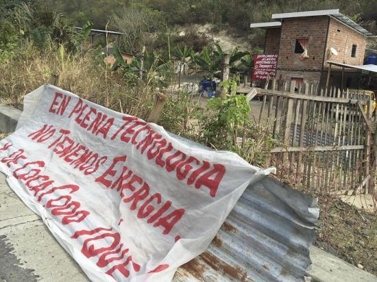 """Piden electricidad en la zona de """"La U"""", cerca al vertedero"""