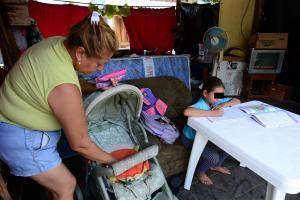 Familias ya quieren dejar el refugio del parque Cayambe