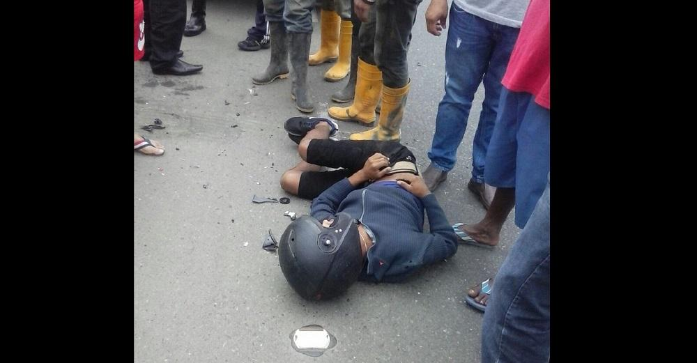 Primos casi se matan en accidente de tránsito
