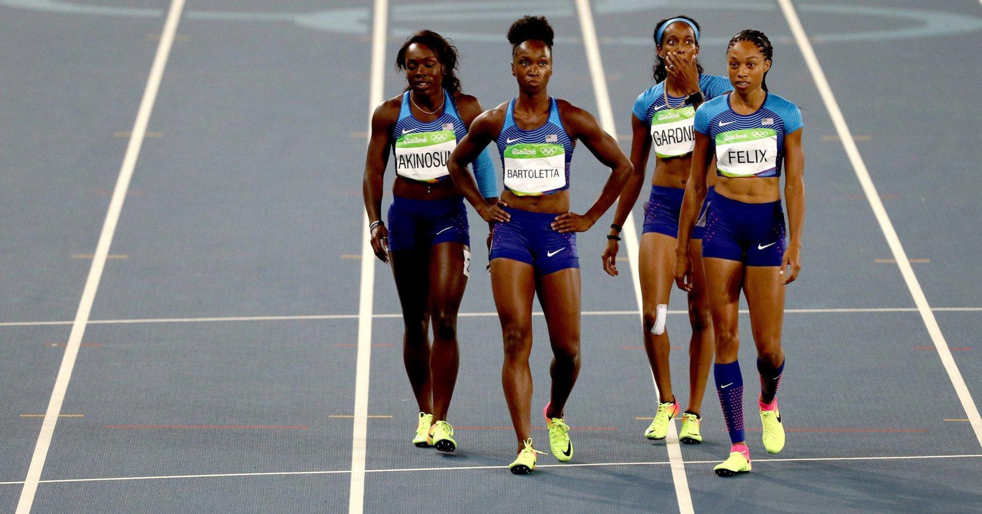 China enfurece por la inédita repetición del 4x100 femenino de EE.UU.