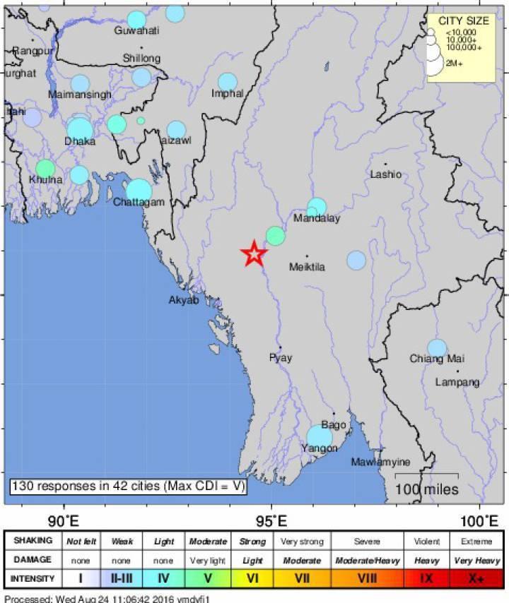 Al menos tres muertos por un terremoto de 6,8 grados en Birmania
