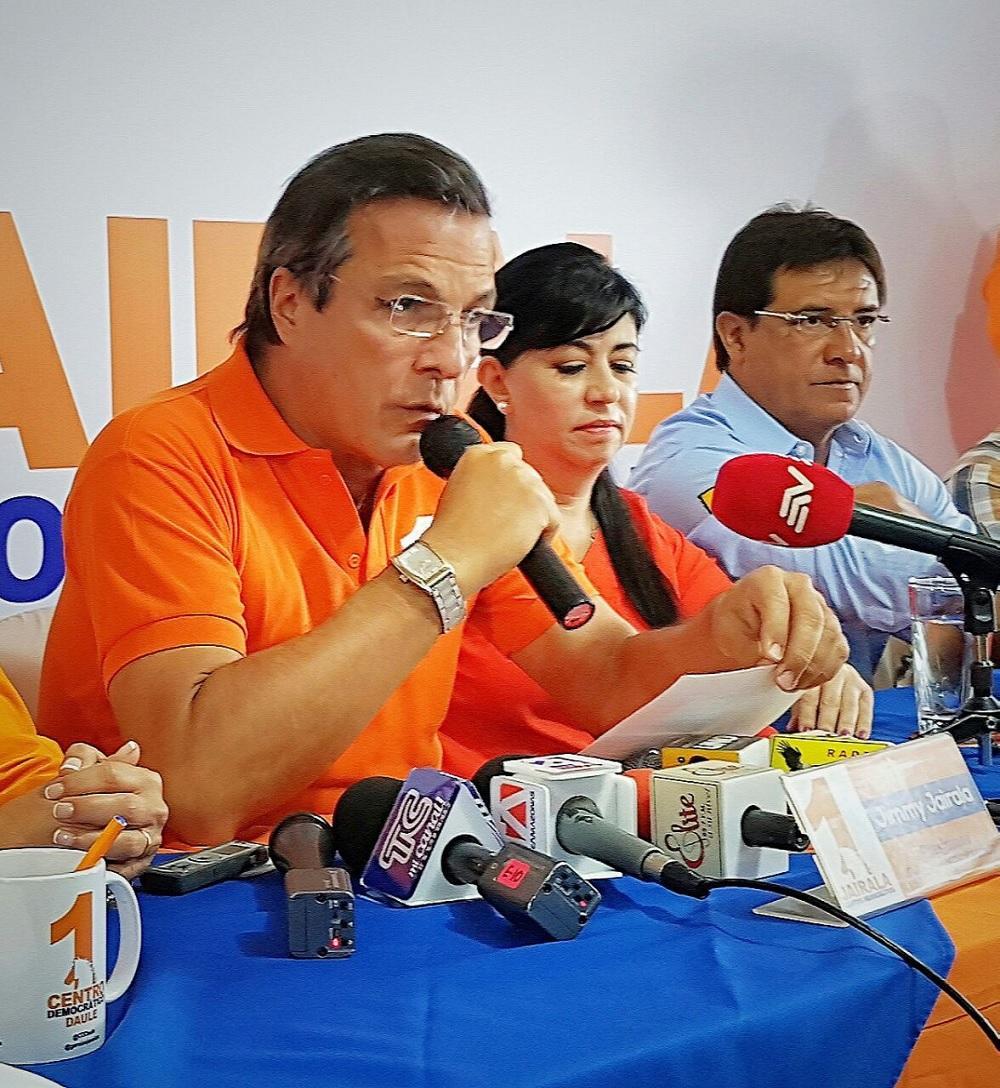 Jimmy Jairala anuncia que no será candidato a presidente