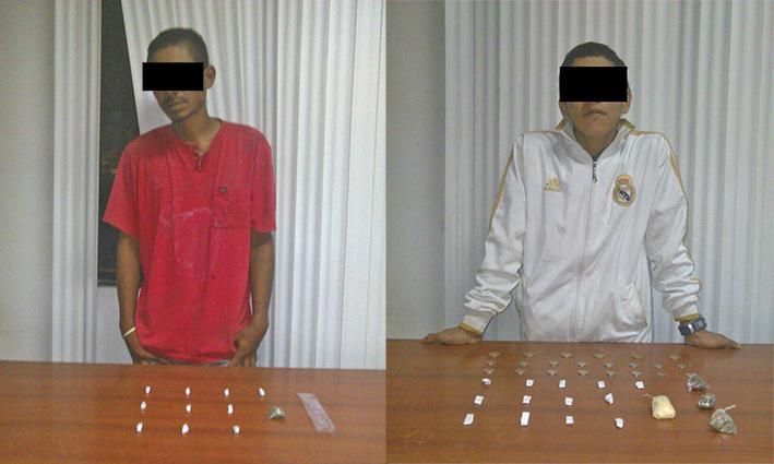 Caen con droga en Abdón Calderón