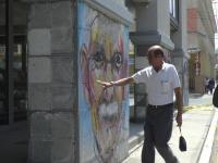 Arte sobre escombros llegó a los pilares del edificio La Previsora