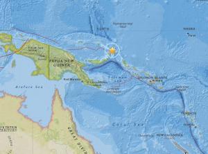 Un terremoto de 6,7 grados sacude el noreste de Papúa Nueva Guinea