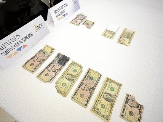 Billetes deteriorados se podrán cambiar
