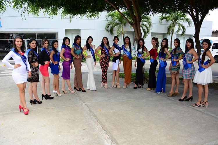 Candidatas a Reina de Portoviejo 2016