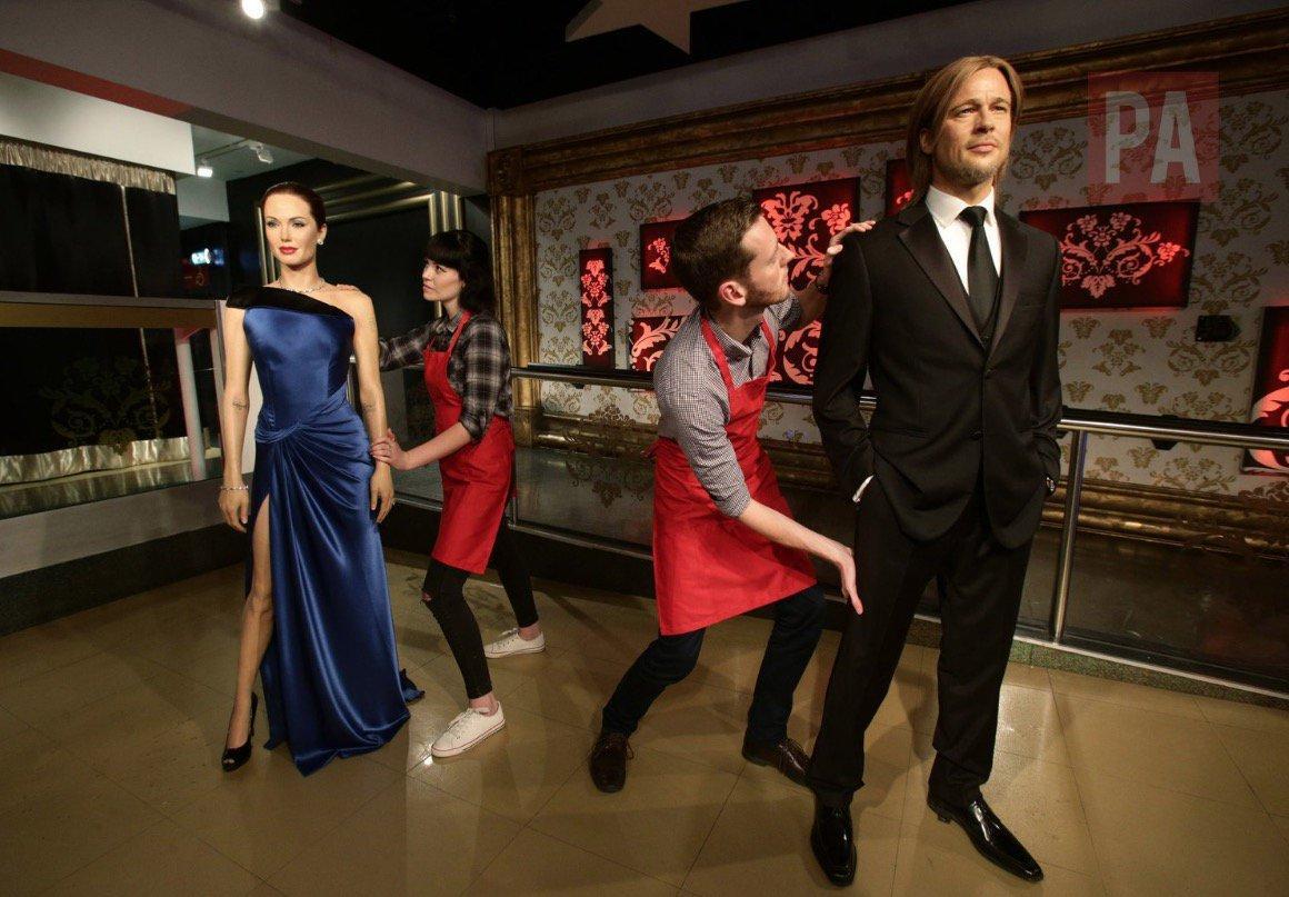 El museo de cera de Londres 'separa' a Angelina Jolie y Brad Pitt