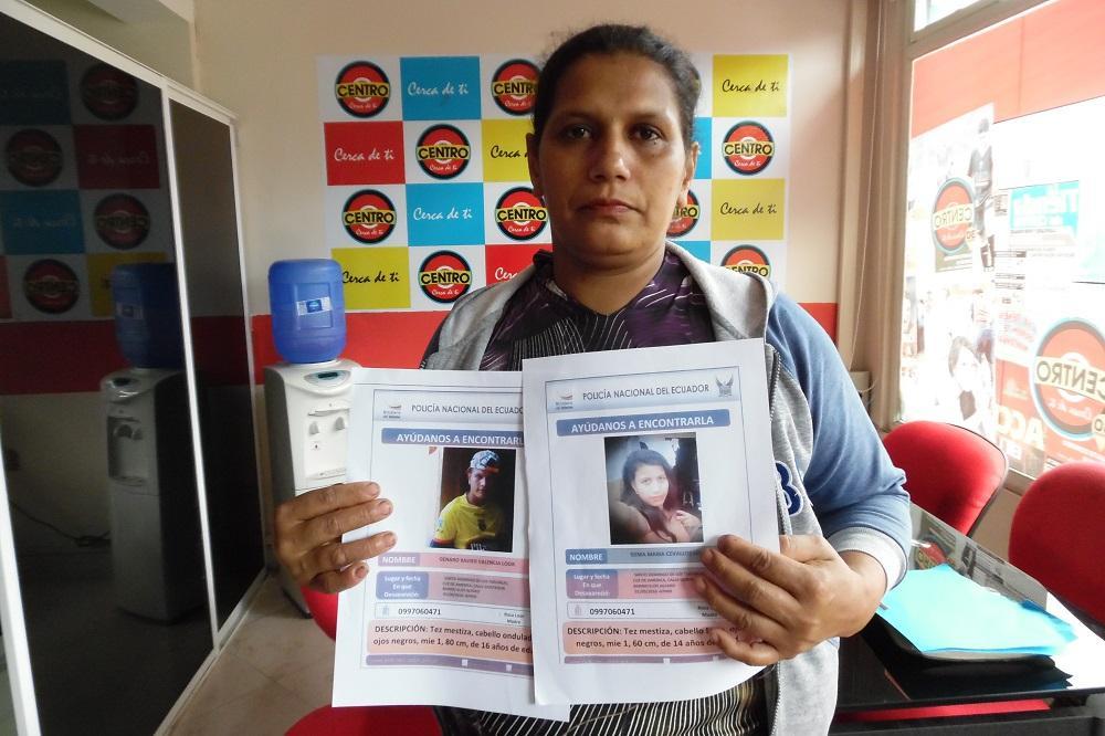 Madre busca a sus dos hijos hace 15 días