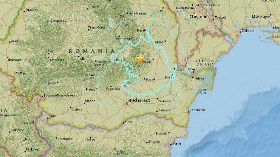 Un sismo de 5,3 grados sacude el este de Rumanía