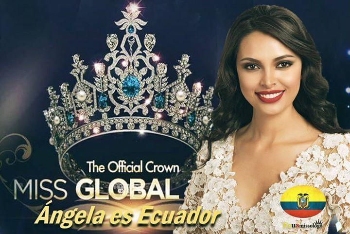 La ecuatoriana Angela Bonilla se corona como la Miss Global 2016