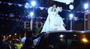 La Virgen de la Merced iluminó la 'zona cero'