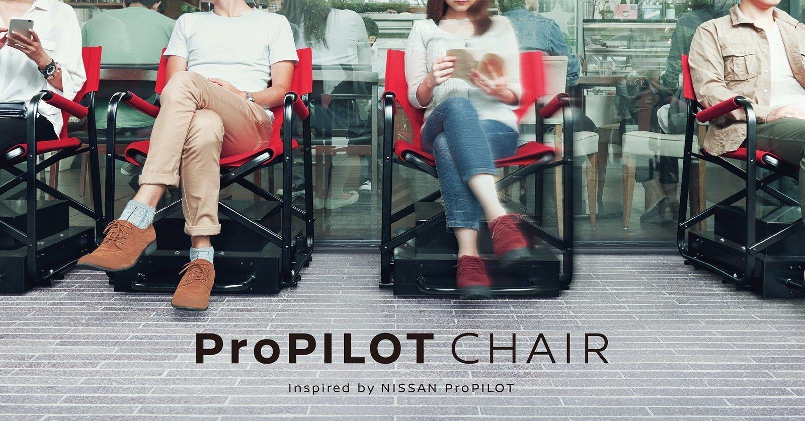 Nissan inventa una silla automática para hacer cola