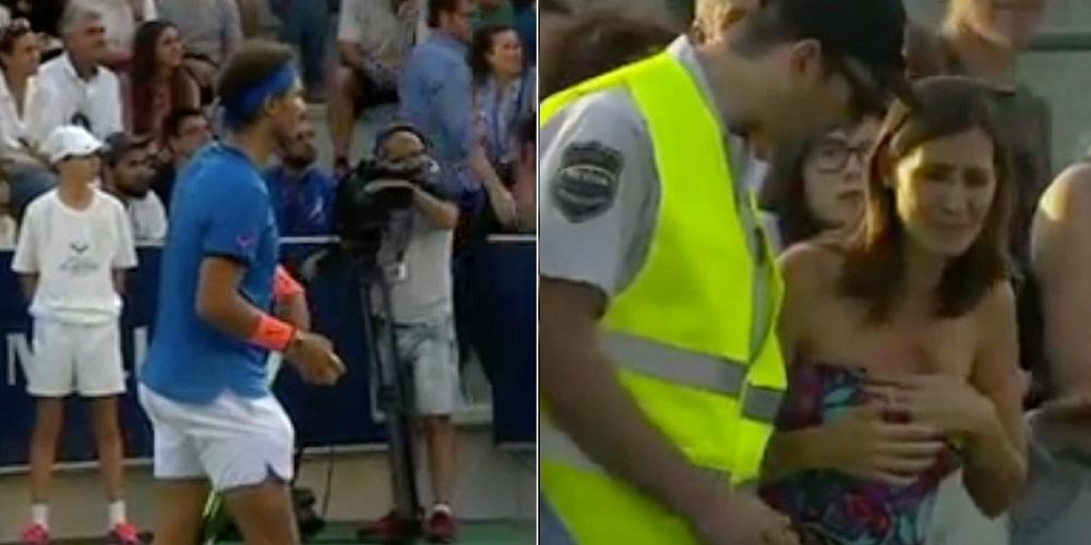 Rafael Nadal detiene un partido para buscar a una niña