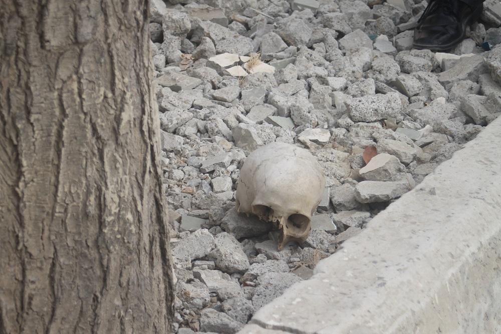 Hallan cráneo cerca de una unidad educativa en el sitio San Juan de Manta