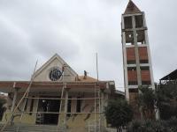 Pintan iglesia la encarnación