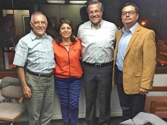Centro Democrático de Jimmy Jairala apoya  a Paco Moncayo de la ID